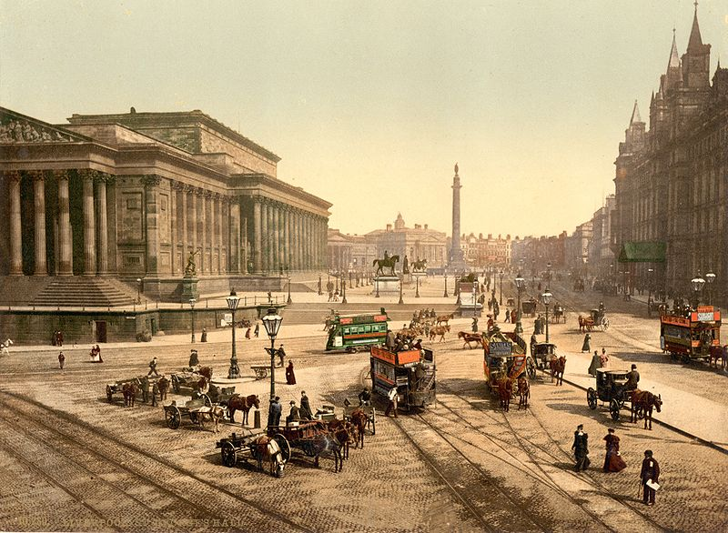 St George's Hall Liverpool 1890s. Photo courtesy of Wikipedia Commons