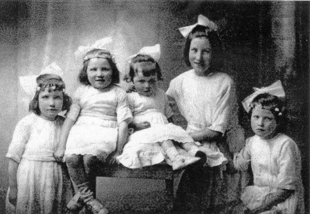 Eileen and her sisters, dressed for the procession