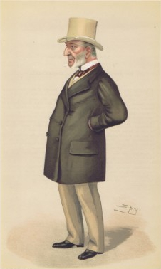 Sir John Simon: Caricatured in Vanity Fair in 1886 as 'The Serjeant'.